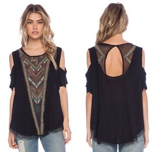 Free People Gypsy Spell Cold Shoulder Top
